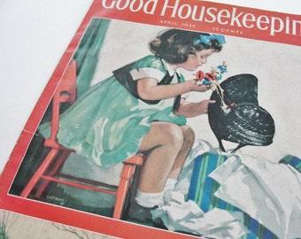 Vintage Magazine Cover Vintage 1938 Good Housekeeping Magazine Cover