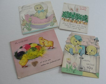 Easter Cards Vintage Easter Cards Funny Easter Bunnies and Chicks Vintage Happy Easter Cards