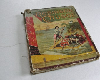 Vintage Children's Book, Robinson Crusoe in Words of One Syllable, Mary Godolphin
