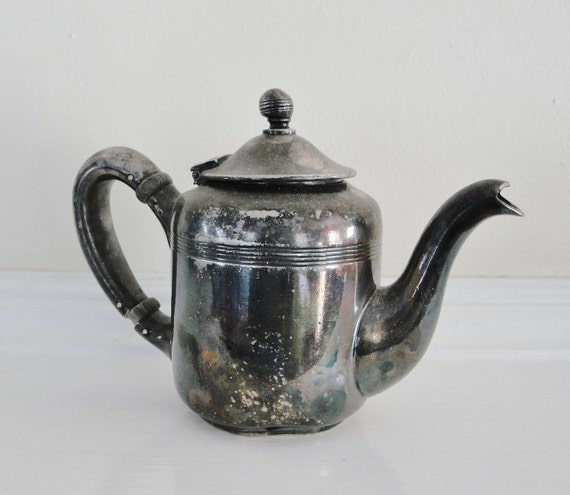 Vintage Reed and Barton Silver Soldered Parker House Teapot 1946