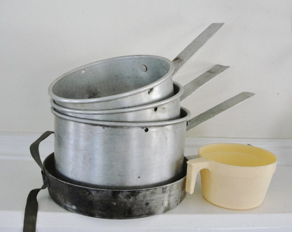 Vintage Camping Mess Kit, Camtor 1950s Camping Pots and Pans, For Men, For Campers, Summer Fun, Father's Day