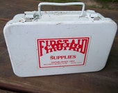 Vintage Metal First Aid Kit by MacGill Camping Travel Medical