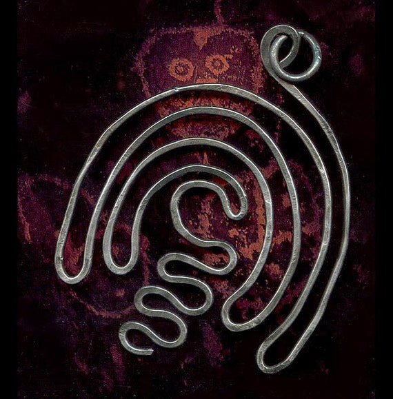 Steel Wire Labyrinth Pendant - Ancient Symbol of the Journey of the Soul