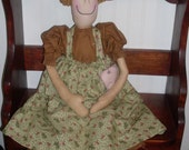 Primitive Doll Folk Art SHIPPING INCLUDED