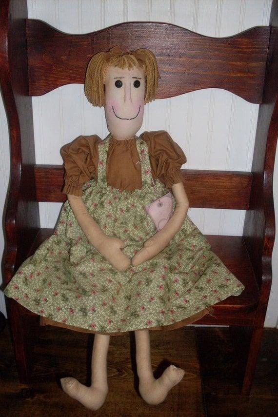 Primitive Doll Folk Art SHIPPING INCLUDED