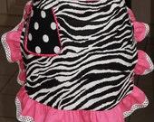Polka Dots Apron-Pink,white and black, vintage