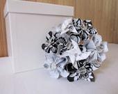 CLEARANCE, Black & White Origami Pinwheel Bouquet