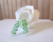 Grass Green Crystal Earrings