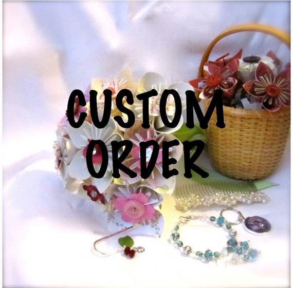 Custom Order: Oversized Pinwheel Wedding Party Set of 5
