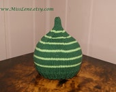 Cute All Green Baby Pixie Hat, Photo Prop or EveryDay Wear, 0-3 months, READY TO SHIP