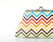 Colorful chevron purse,zig zag stripes