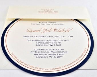 Modern Circle Invitation, Sample - CASEY