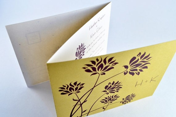 unique tri fold wedding invitation with perforated rsvp With tri fold wedding invitations with perforated rsvp uk