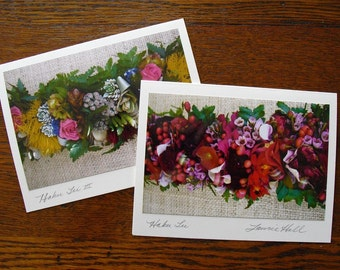 Photo Note Cards, Hawaiian Leis, Hawaiian Photography, Floral Note Cards, Hawaiian Photo Note Cards, Haku Leis Stationery, Signed by Artist