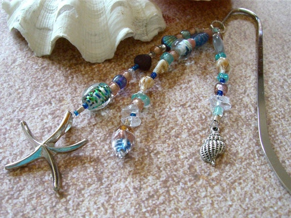 Reserved for Sattvaa, Beaded Bookmark Fit for a Mermaid Hawaiian Bookmark