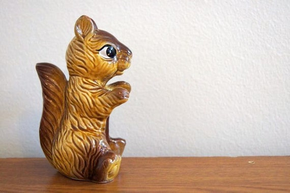 Squirrel--Woodland Friend--Vintage Collectible--1970s