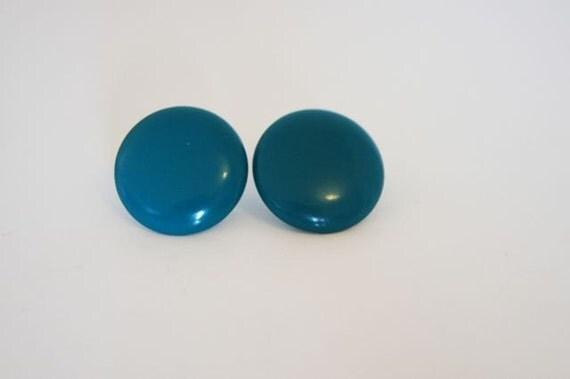 Vintage Earrings---Vintage Stud Earrings---Vintage Earring---Vintage Jewelry---Blue Studs--Blue