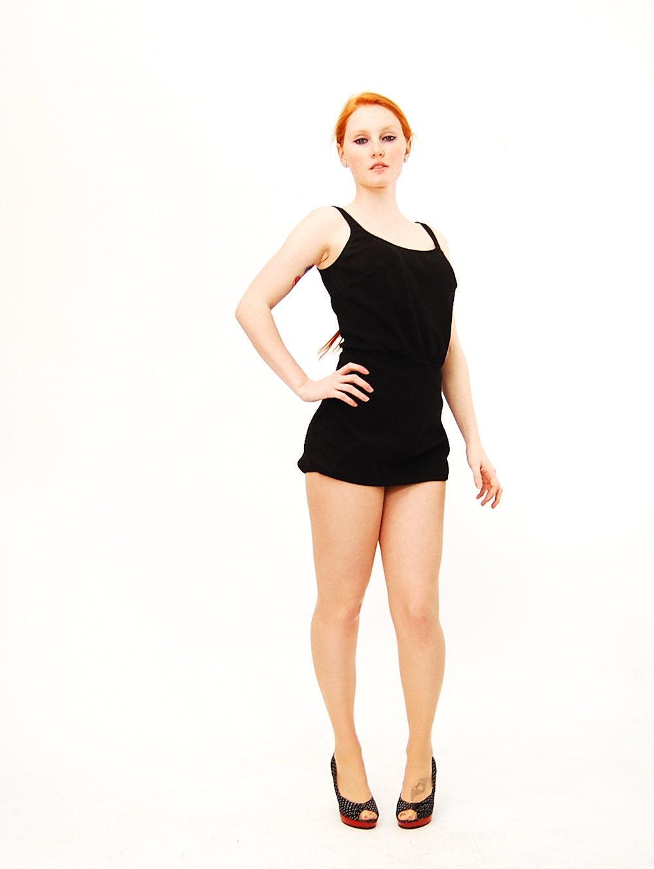 Vintage 1960s Bathing Suit 60s Bathing Suit Black