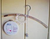 I Carry Your Heart Mason Jar Embroidery Hoop