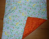 Reserved for Sheena: Reversible Baby Changing Pad and Sheet Protector, Orange Moons 'Wee Pad'