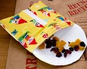 Reusable Snack Bag...Gnomes...Eco friendly 'Snack Pod'