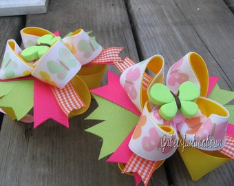Gabersfashionbows M2M Gymboree Social Butterfly Hairbows