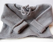 Knitted Baby Sweater in Gray For Boys