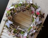 Woodland Butterfly Wreath  Grapevine Wreath  Butterflies  Whimsical