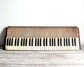 antique late 1800s wooden organ keyboard - reserved for emily