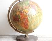 vintage 1960s replogle world globe