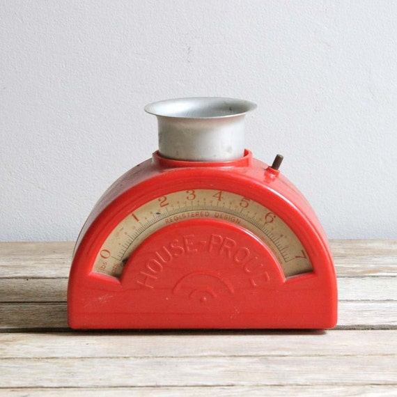 Vintage House-proud Red Kitchen Scale