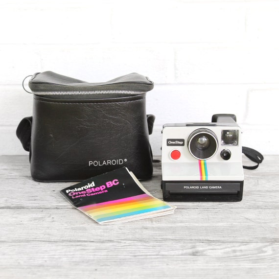 vintage polaroid sx-70 rainbow stripe camera - works