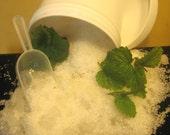 Bath Salts, Foot Soak, Peppermint Sea Salts, Cool, Minty, Naturally Therapeutic