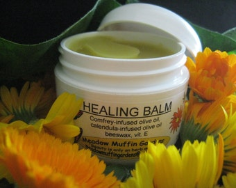 Herbal Healing Salve, Comfrey and Calendula Balm, no added essential oils, child safe, elderly, pets