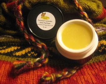 Perfume, Patchouli Lavender Solid Perfume, Available in Pot or Tube, Fragrance