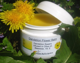 Dandelion Flower Balm, Breast Massage, Muscles, Chapped Skin