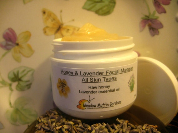 Facial Mask, Organic Raw Honey & Lavender, All Skin Types, complexion, burns, blemishes, blackheads, face mask