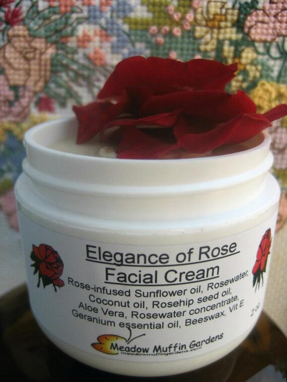 Facial Moisturizing Cream, Organic Face Cream, Sensitive Skin, Elegance of Rose, Roses, Day or Night Cream