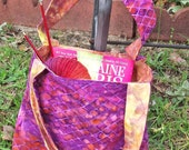 Reversible Purse - Purple Snakeskin Batik
