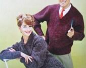 Knit Sweater Patterns PDF - 1960's Men's and Women's Sweater Patterns 2819, 2820
