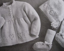 Unique Baby Sweater Set Related Items Etsy