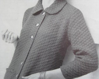 1950's Vintage Knitting PDF Pattern Women's Sweater 729-11
