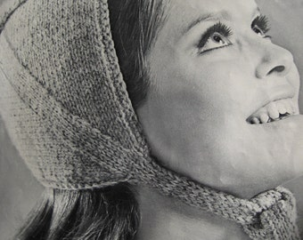 1960's Vintage Knit Pattern Women's Cap PDF Pattern 9210