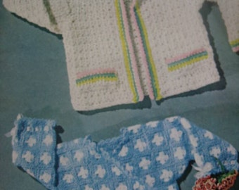 Vintage Crochet Sweater PDF Patterns for Babies, Toddlers, Small Kids 170e