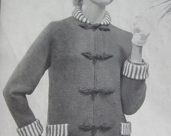 1950's Vintage Knitting PDF Pattern Women's Sweater Coat 488