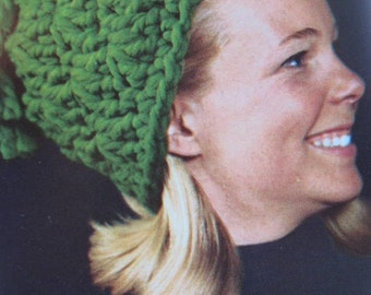 1960's Vintage Crochet PDF Pattern Women's Hat with Tassel 2156-165