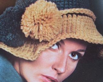 1960's Vintage Crochet PDF Pattern Women's Hat 2160-165