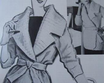 1960's Vintage Knitting Pattern Women's Sweater Coat PDF Pattern 6219