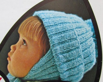 Vintage Knitting PDF Pattern Children's Helmet Hat 865