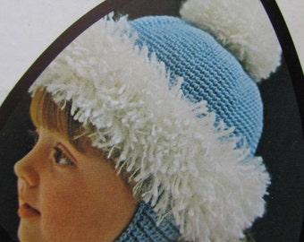 Vintage Crochet Pattern Children's Hat 873 PDF Patterns